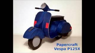 Papercraft Vespa P125X