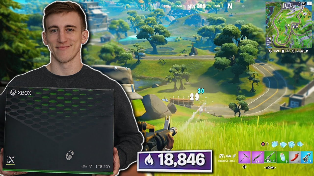 I tried next gen Console in Fortnite Champs..