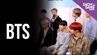 For More Interviews, Subscribe ▻▻ http://bit.ly/29PqCNm We met up with BTS backstage at the AMAs to talk about breaking the language barrier in the US, their ...
