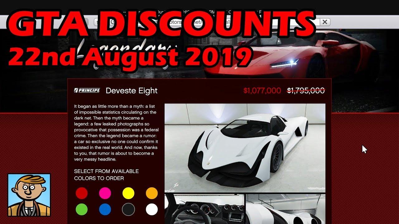 GTA Online Best Vehicle Discounts (22nd August 2019) - GTA 5 Weekly Car  Sales Guide #4