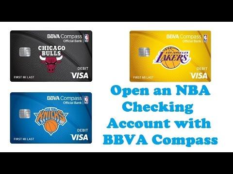 Open An NBA Checking Account With BBVA Compass