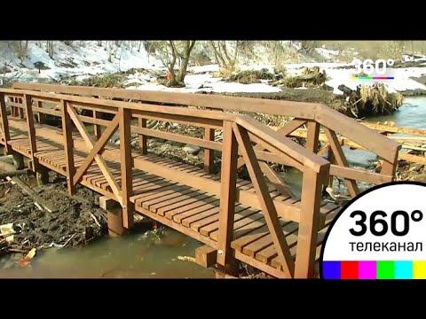 Мост через реку Пехорку построили в Балашихе