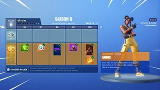 ON DECOUVRE THE NEW SAISON COMBAT PAS 8 on FORTNITE BATTLE ROYALE!