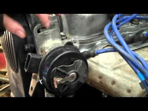 How to install a distributor on a B2200 By Shayne B - YouTube