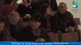 Entrega de Fondos de Desarrollo Vecinal y Subvención Municipal Concursable
