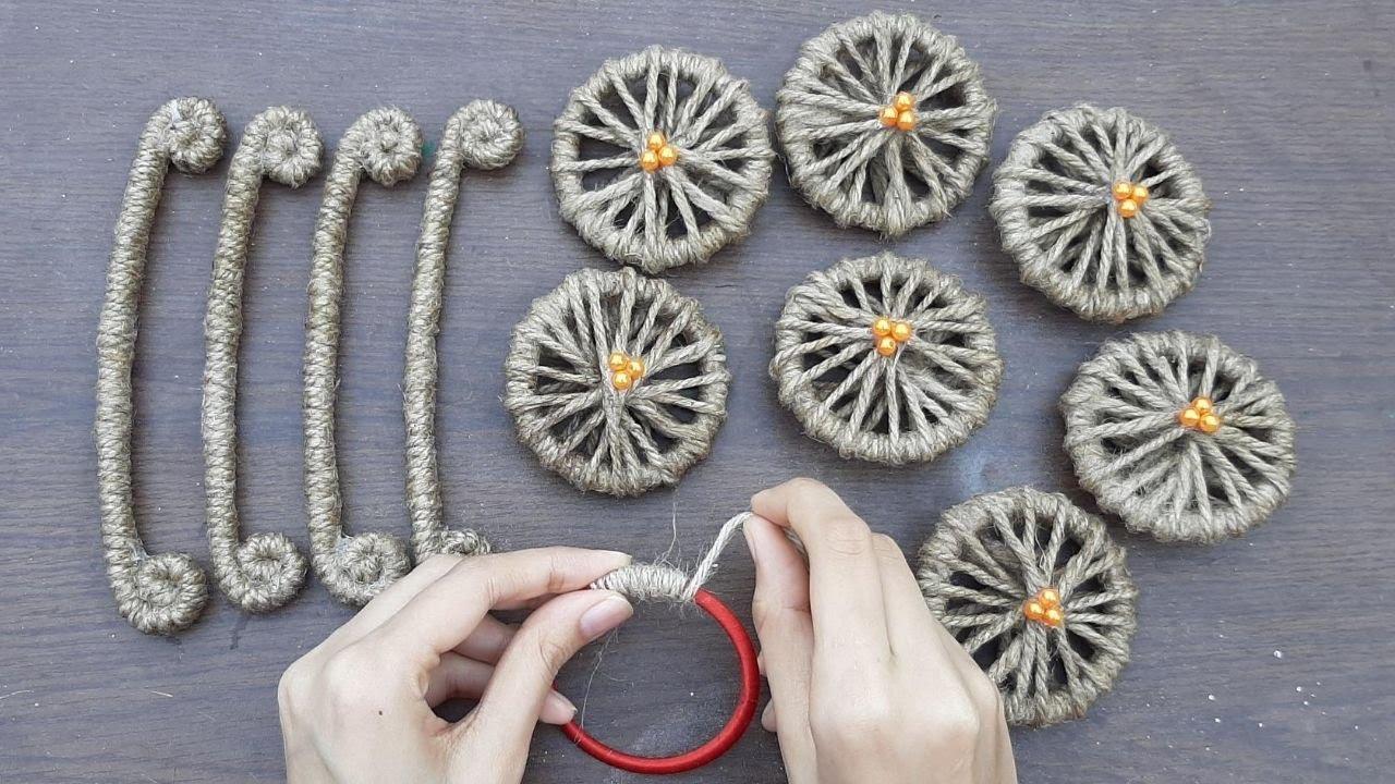 jute organizer basket decoration || diy new jute rope basket || jute craft basket decoration idea