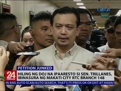 Hiling ng DOJ na ipaaresto si Sen. Trillanes, ibinasura ng Makati City RTC Branch 148