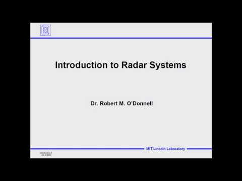 Introduction to Radar Systems lec 1