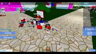 Me and my friend in a Roblox game with explosives