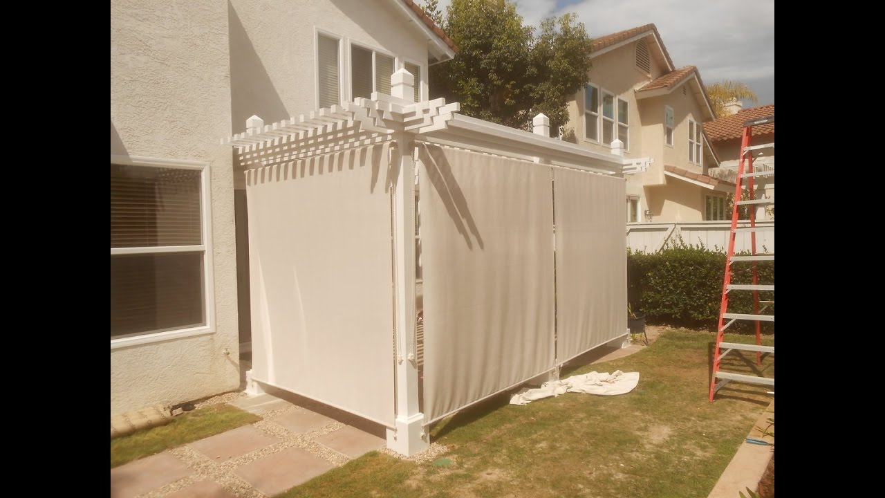 Shade cloth installation on patio cover youtube for Shade cloth san diego