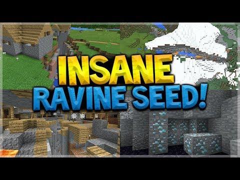 Insane Ravine Seed Minecraft Pocket Edition 12 Mineshaft Ravine Diamonds More