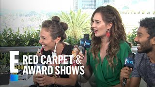 Dominique Provost-Chalkley Asks Katherine Barrell a Sexy Question | E! Red Carpet & Live Events