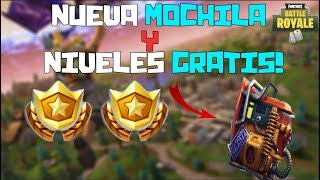 FORTNITE ? HOW TO GET THE NEW MOCHILA *SECRETA* AND TOTALLY FREE LEVELS!?