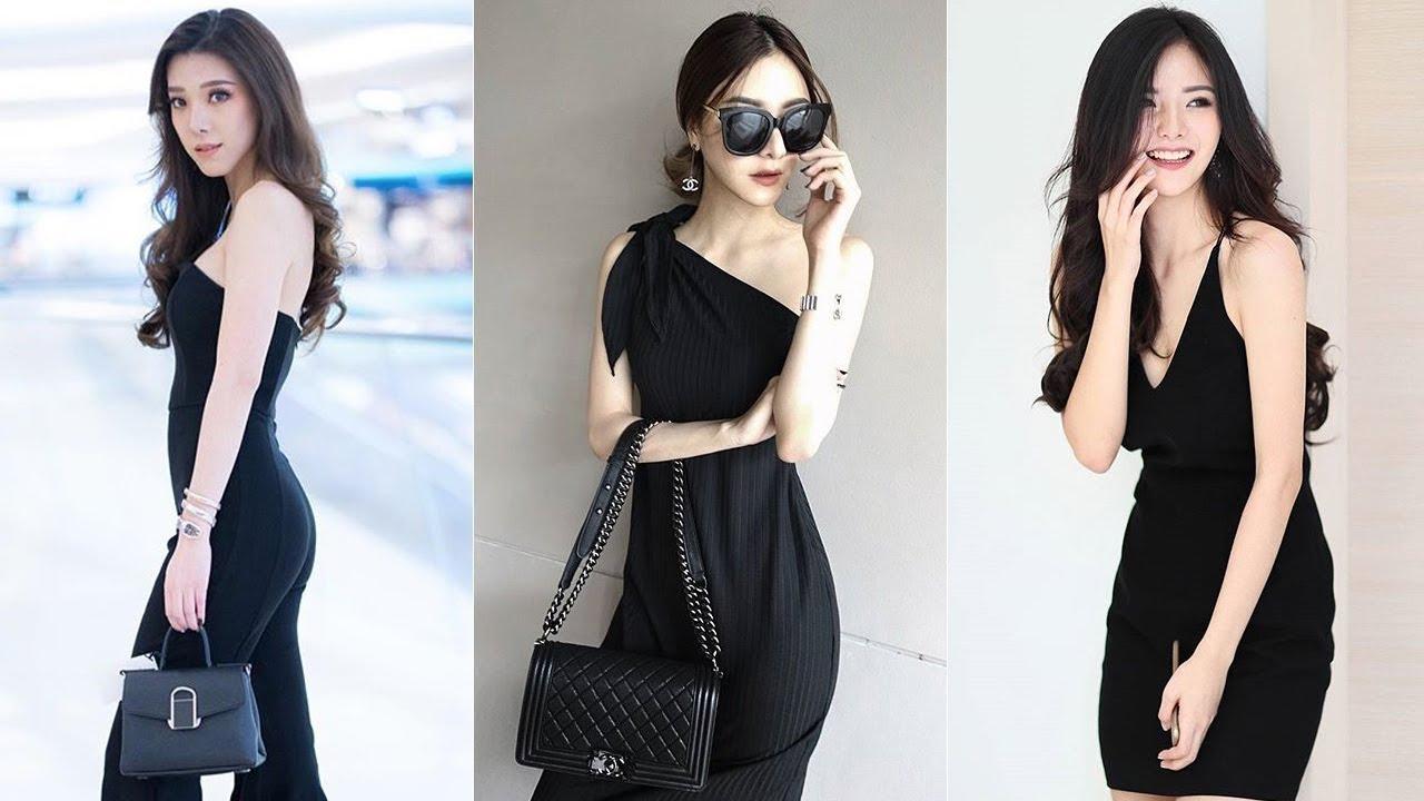 แฟชั่นชุดเดรสสีดำ สวยด้วยอำพรางหุ่นได้