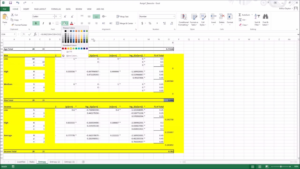 Decision Tree In Excel