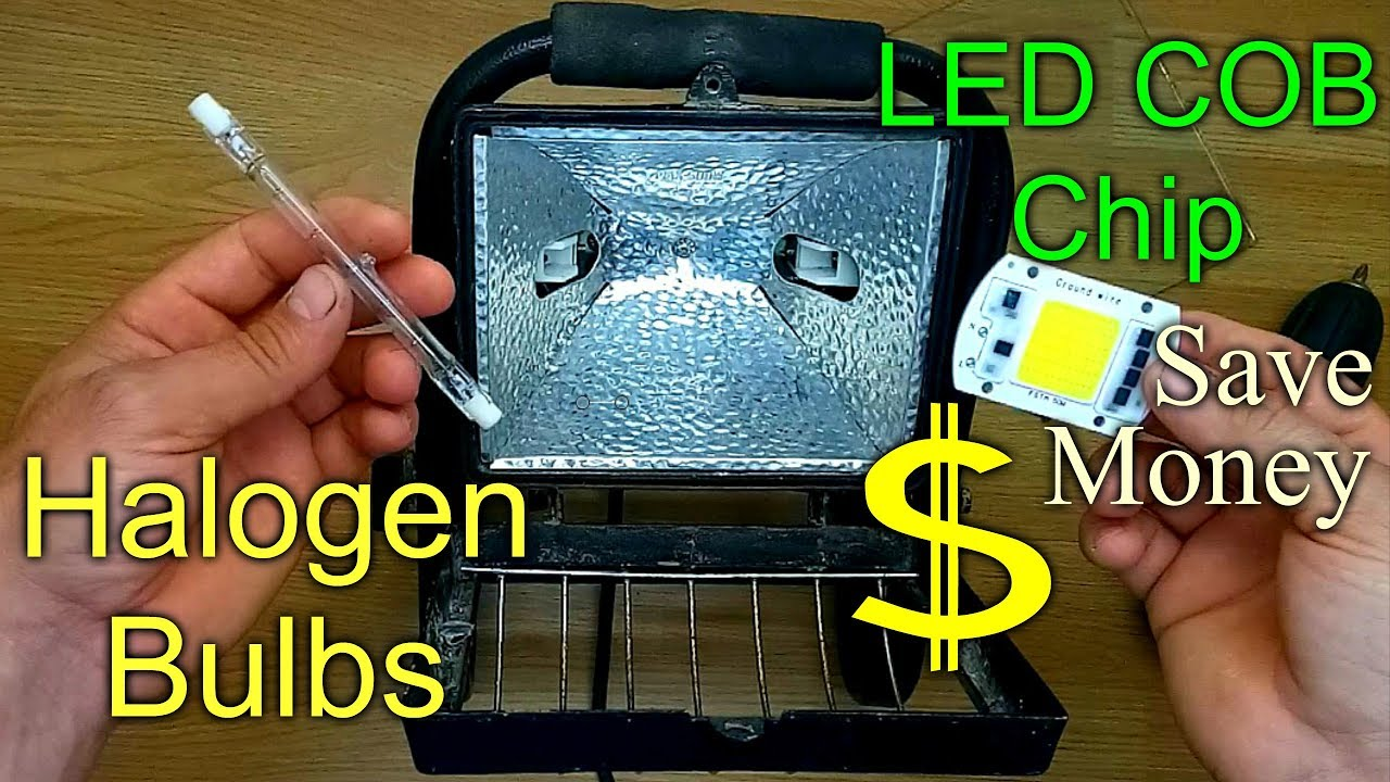 How To Replace Convert A Halogen Floodlight With An Led Chip Youtube