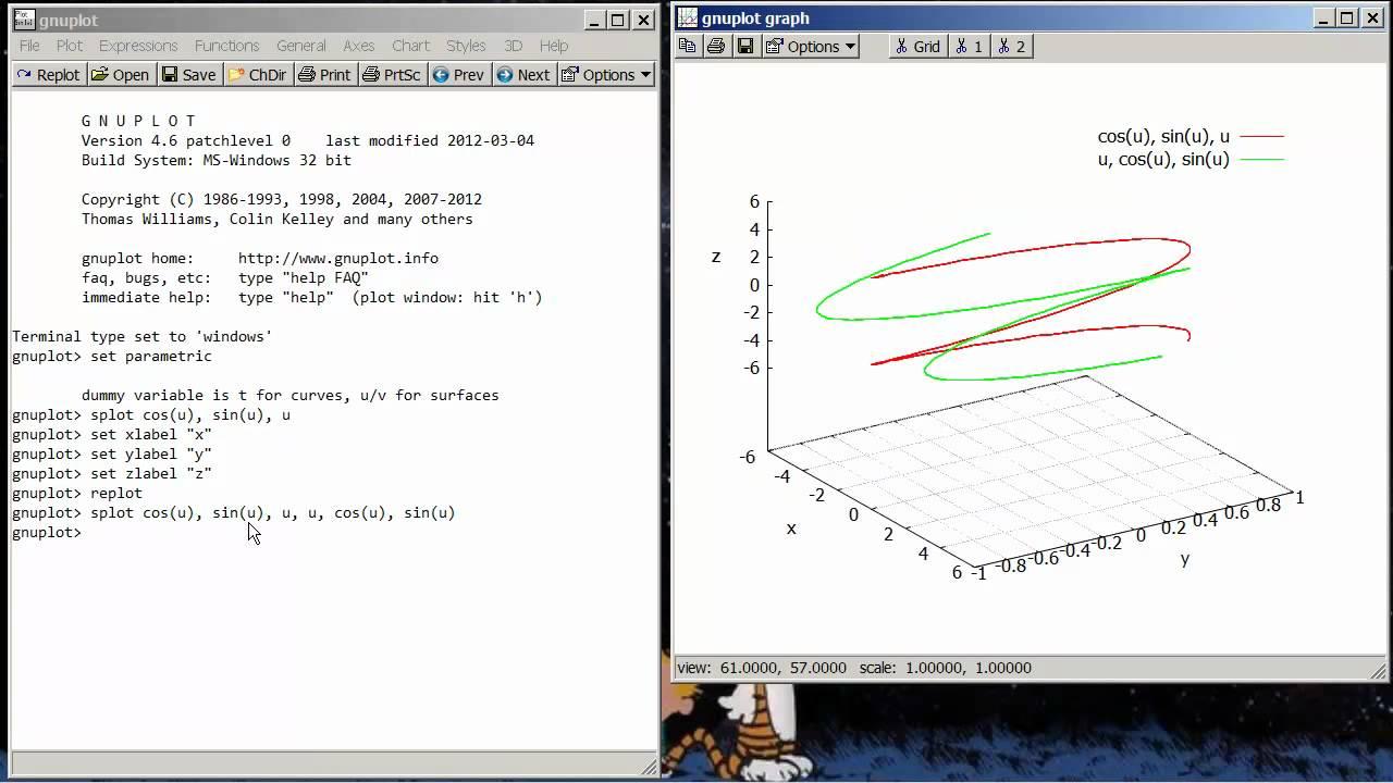Plotting Vector Valued Functions in gnuplot