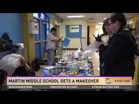 School Makeover At Martin Middle School In Austin, TX - KVUE