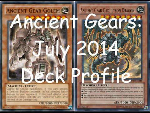 Yugioh July 2014 Ancient Gear Deck Profile!