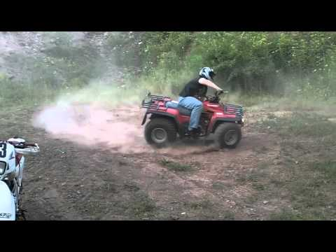 Dirt Bike Burn Out + Offroad Tricks