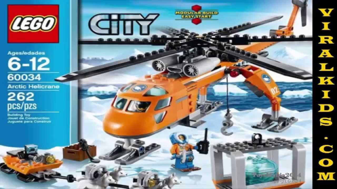 Lego city arctic helicrane 60034 toys review