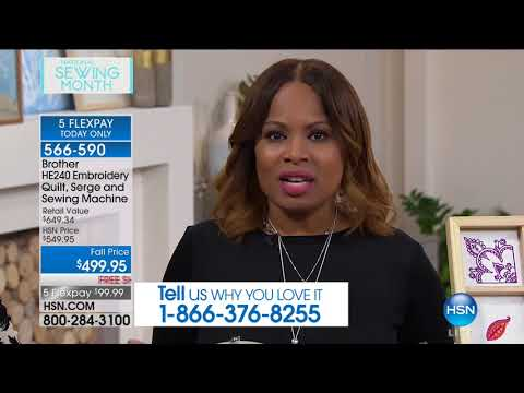 HSN | Sewing Solutions featuring Brother 09.18.2017 - 01 PM