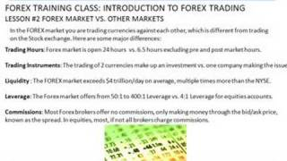 FOREX |TRAINING CLASS| #3 Forex Market vs. Other Markets