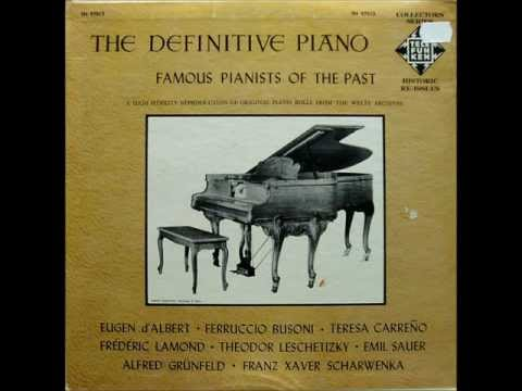The Definitive Piano (Early 20th Century Piano Rolls' Recordings)