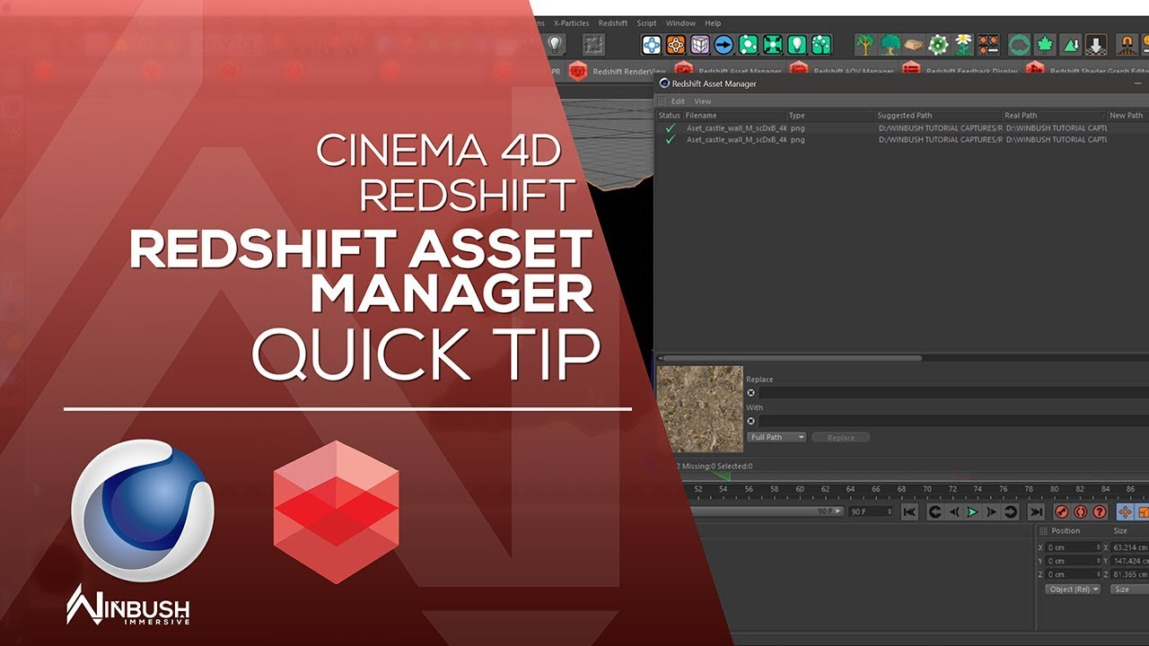 CINEMA 4d & REDSHIFT - Redshift Asset Manager