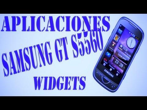 Aplicaciones y widgets Samsung gt-s5560.