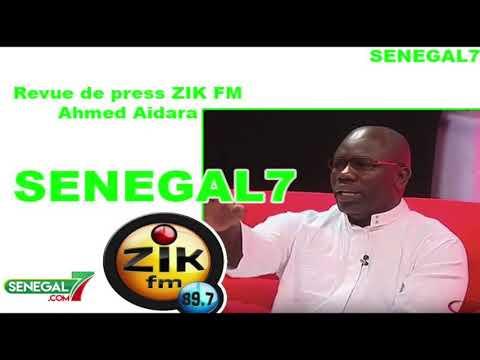 Revue de Presse (Wolof) Zik-Fm du Jeudi 24 Octobre 2019 par Ahmed Aidara