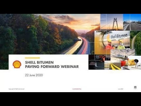 Shell Bitumen Paving Forward Webinar – 19 August 2020