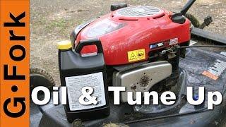 Change The Oil & Tune Up Lawnmower : Gardenfork.t