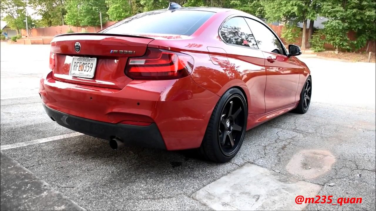 Loud Bmw M235i Custom Single Exhaust Rev Burnout Fly By
