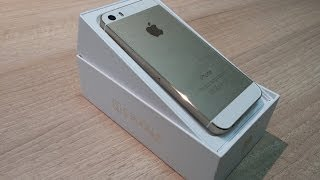 فتح علبة ونظرة سريعة للايفون 5 اس الذهبي - iPhone 5S GOLD unboxing