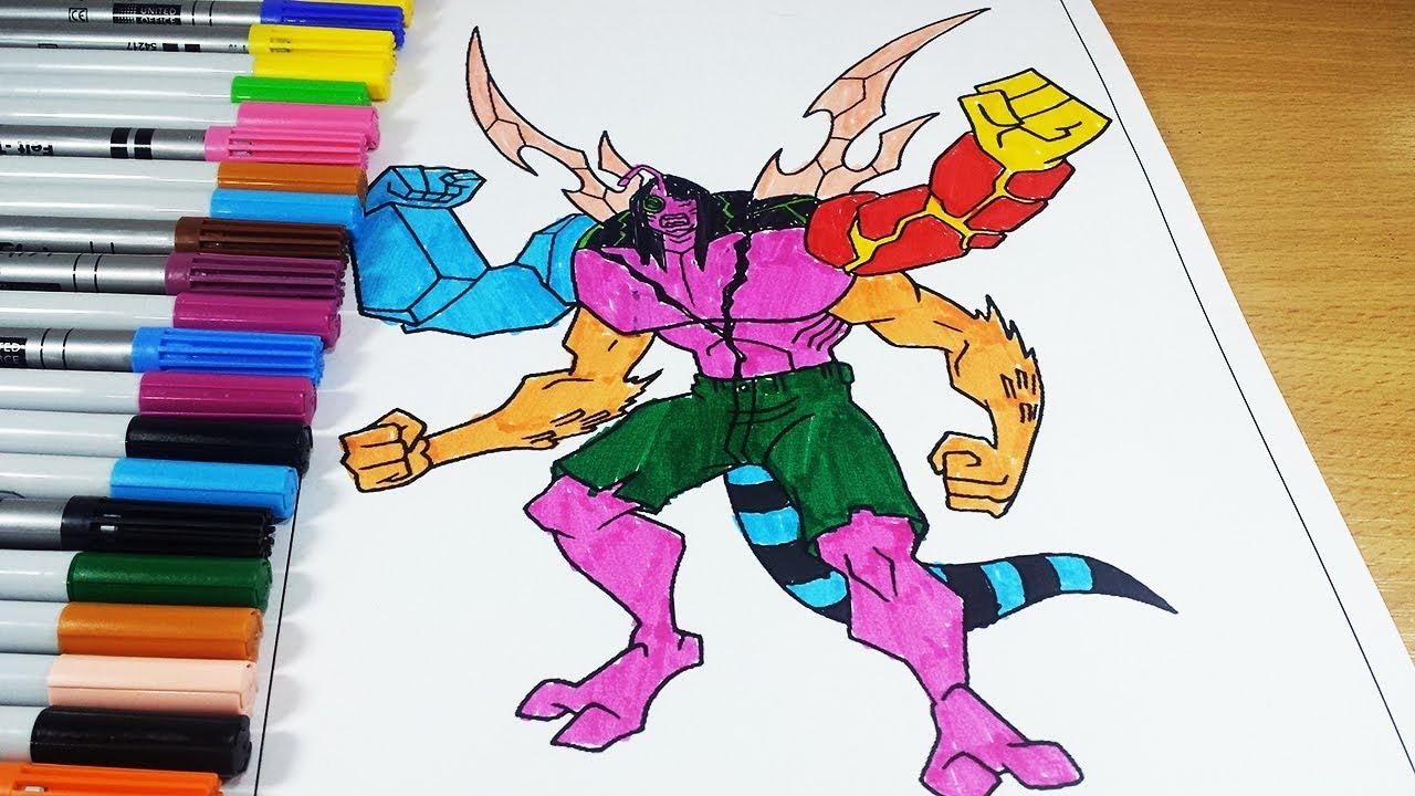Coloring Pages Ben 10 Kevien Mutation - Coloring Videos Ben 10 ...