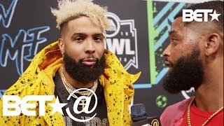 Odell Beckham Jr. Throws Shots At King Keraun & Reveals Super Bowl LIII Predictions | BET@