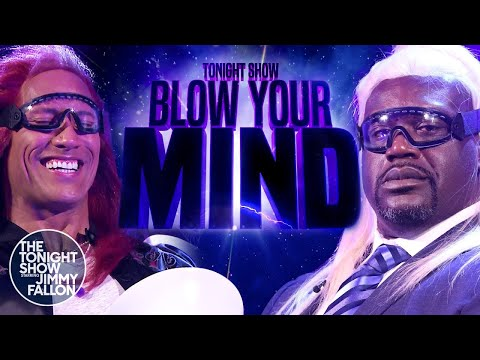 Tonight Show Blow Your Mind with Dwayne JohnsonandShaquille O'Neal
