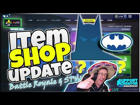 💥MenamesCho's LIVE 🎁 ITEM SHOP BATMAN 💫 COUNTDOWN 🦇 Gotham Fortnite Battle Royale 21st Sept 2019