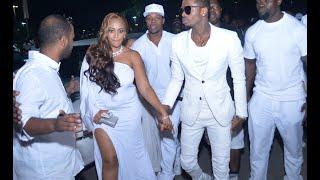 Diamond and Zari kwenye red carpet Zari All White Party