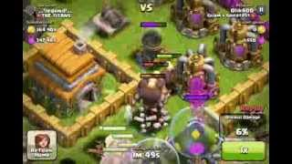 [ Clash Of Clans ] 700k loot attack 100% 3 Stars!