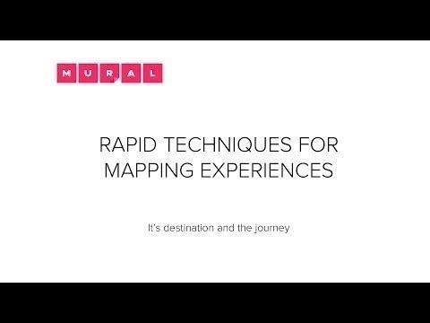 Rapid Techniques for Mapping Experiences