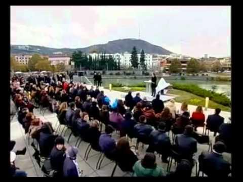 Саакашвили открыл памятник Рональду Рейгану