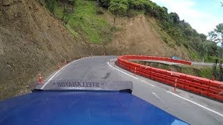 Truck POV cam Takaka hill Road flood repairs  21 Nov 2018
