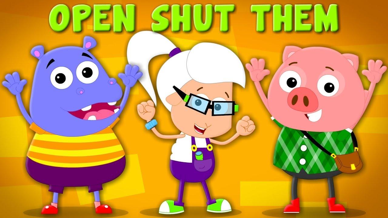 Open Shut Them Nursery Rhymes Baby Songs Children Rhyme