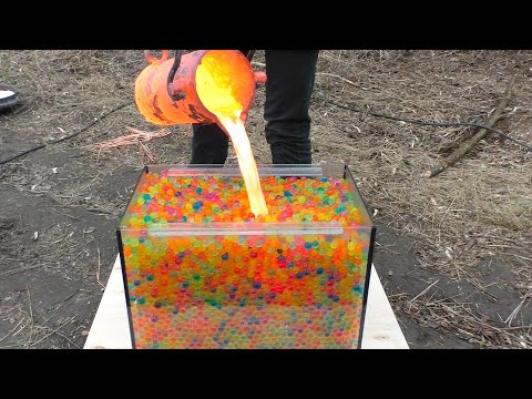 100000 Orbeez VS Lava In Aquarium | Crazy Experiment