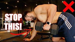 How to PROPERLY Dumbbell Row | 3 Dumbbell Row Variations for Muscle Gain