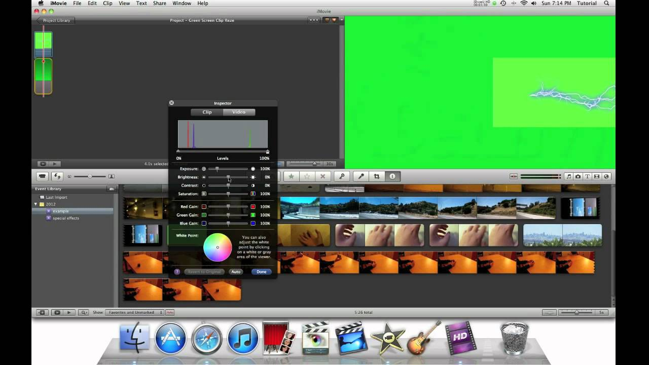 iMovie 11 Special Effects - Repostioning a Green Screen Clip