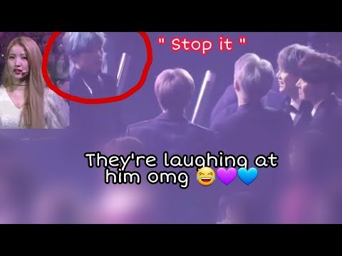 BTS Members Teasing V To GFRIEND SOWON During SMA 2019
