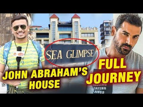 John Abraham LAVISH Penthouse In Mumbai | SEA GLIMPSE | Full Journey Video